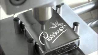 Fräsanwendung: Zippo Feuerzeug selbst gravieren mit CNC Fräsmaschine Portalfräsmaschine