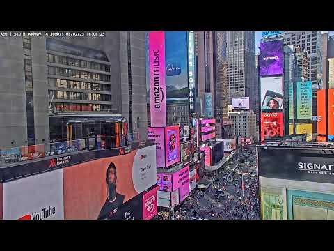 時代廣場 1560 Broadway - 紐約市 - 即時影像監視器:臺灣路況即時影像,旅遊景點天氣觀測