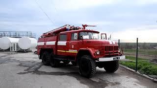 Николаевские спасатели показали, как тушили пожар на масло-экстракционном заводе. ВИДЕО