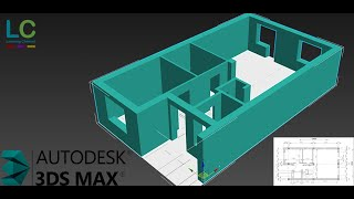 3Ds MAX Extruding a Floor Plan