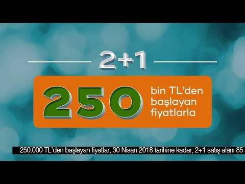 Sur Yapı Antalya Turkuaz Etabında 2+1 Daireler 250 Bin TL'den Başlayan Fiyatlarla