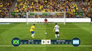 BRAZIL vs ARGENTINA   Penalty Shootout   Neymar VS Messi   PES 2019 Gameplay PC