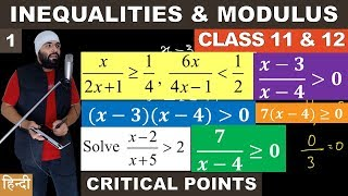 (Part 1) Inequalities and Modulus Basics for Class 11 & Class 12