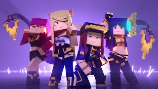 EnchantedMob : K/DA - POP/STARS Minecraft Music Video