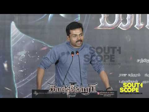 Karthi talks about working with comedian Vivekh in Kashmora
