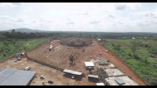 PROGRESS ON ADJAMESU PROJECT FROM THE VIEW OF A DRONE, Prophet Francis Kwateng