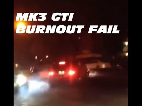 Burnout leaving car meet