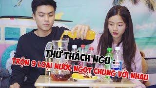 Thử Thách Trộn 9 loại nước ngọt và bia cùng Hương và Huy | Lan Hương Channel