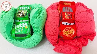 London Bridge Is Falling Down - Learn Colors Disney Cars3 Kineticsand Painting Water Cup For Kids