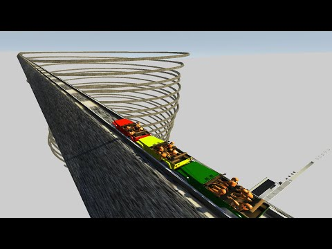 Impossible Roller Coaster Crashes #7  - BeamNG Drive - CrashTherapy