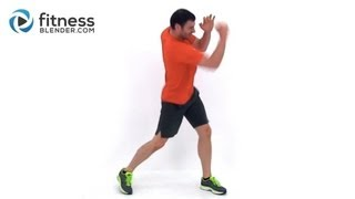 Cardio Kickboxing plus Abs and Obliques Workout - At Home Bodyweight Workout by FitnessBlender