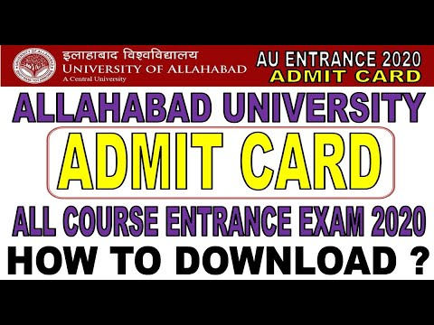 Sarkari Result: Allahabad University AU Entrance Exam Result 2020