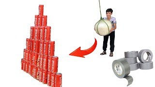 PHD   Quả Bóng Khổng Lồ Và Kim Tự Tháp 100 Lon Cocacola   Giant Balls And Pyramid Coca Cola Cans