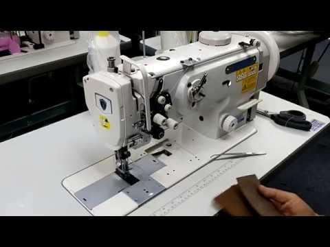 THOR GC-1560 Double Needle Walking Foot Sewing Machine Threading