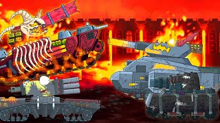 Scary tank battle. World of tanks animation. Monster Truck children. Tank animation english.