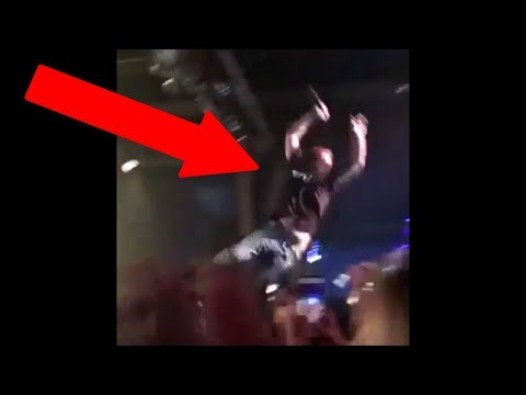 Post Malone stage dive FAIL | Post Malone falls off stage | Post Malone crowd dive FAIL