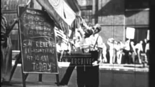 1939 General Motors strike.  Archive film 93144