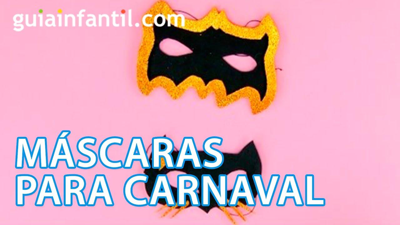 Cómo hacer unas máscaras de Catwoman y Batman para Carnaval