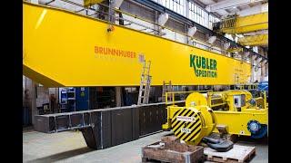 Dispatch Of 500t Indoor Double Girder BRUNNHUBER Bridge Crane For Loading Marine Diesel Engines