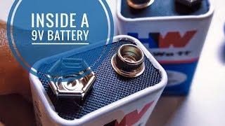What's inside a 9V battery?   Zinc-Carbon Battery Construction