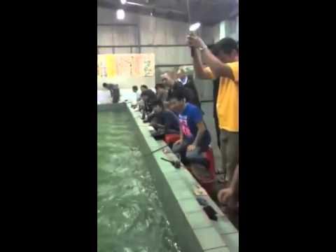 從來沒釣過這麼大的龍蝦
