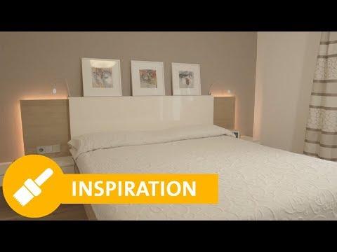 Schlafzimmer streichen: Tipps zur richtigen Farbe & Wandgestaltung