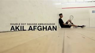 Akil Afghan signs with Double Dot Squash