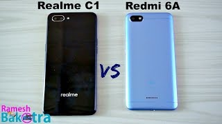 Realme C1 vs Redmi 6A SpeedTest and Camera Comparison