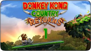 preview picture of video 'Donkey Kong Country Returns #01 - ¡Mis plátanos!'