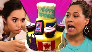 Turning epic cake FAIL into holiday gift box cake!  | NEW SERIES | How To Cake It with Yolanda Gampp
