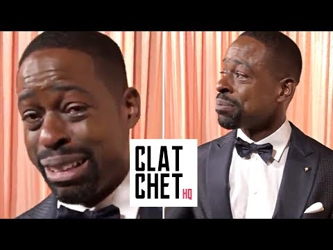 Tears of joy! Sterling K. Brown emotional reaction to SAG wins