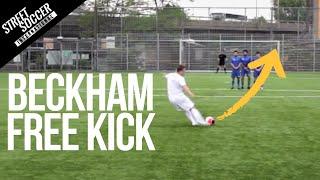 Learn David Beckham Free kick | Street Soccer International