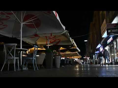 Foto-vest: Niški kafići prazni posle 23 sata, na ulicama i Keju bez gužvi