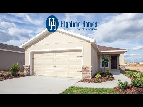 Begonia home plan by Highland Homes - Florida New Homes for Sale