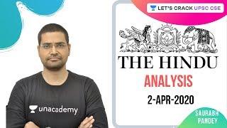 2-Apr-2020 | The Hindu Newspaper Analysis | Current Affairs for UPSC 2020/2021 | Rahul Bhardwaj