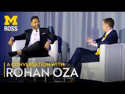 Rohan Oza Talks Branding and Entrepreneurship with Michigan Ross Dean Scott DeRue 2019