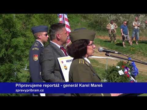 Slavností odhalení pomníku generála Mareše v Kosově Hoře