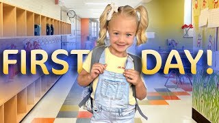 Everleighs First Day Of Kindergarten!!! (SO CUTE)