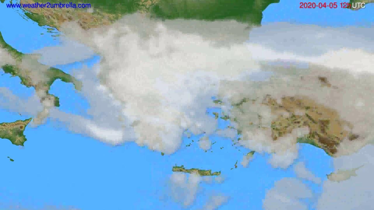 Cloud forecast Greece // modelrun: 00h UTC 2020-04-05