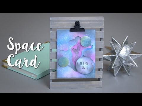 How to Make this DIY Space Card!