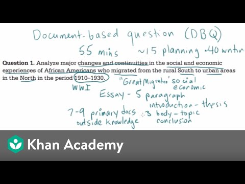 AP US History DBQ example 1 (video) | Khan Academy