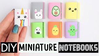 4 DIY MINI NOTEBOOKS - Easy & Cute Designs!