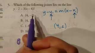 GED Practice Test Problem 5