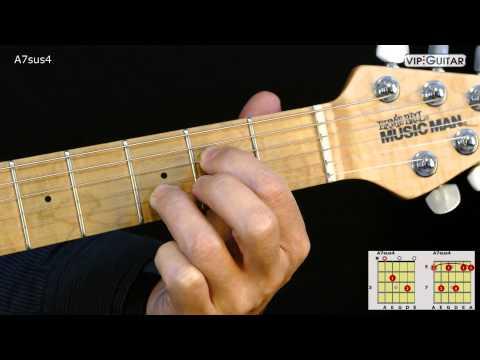 Gitarrenakkorde: A7sus4 chord
