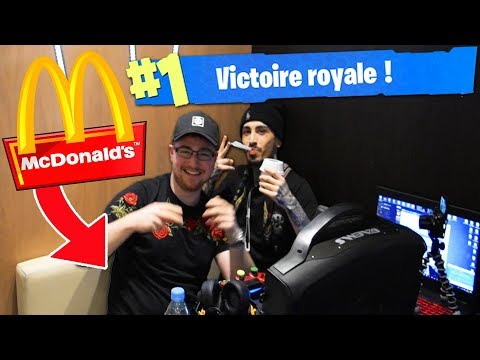 TOP 1 FORTNITE au McDONALD'S !? 🍔