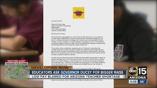 Educators ask Governor Ducey for bigger pay raise