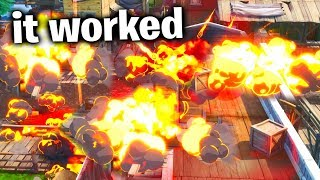I Destroyed Tilted Town With This Glitch.. (Fortnite Season X)