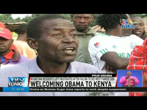 Nyang'oma residents livid after president Barack Obama used decoy convoy to avoid them