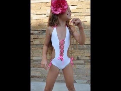 Модный детский купальник с шнуровкой BAEL
