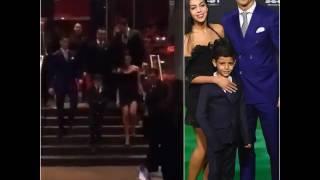 Ronaldo Giorgina Y Ronaldo Jr Salida A La Alfombra Verde 2017 Nueva Novia De Cristiano Ronaldo 7